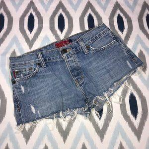 Hollister Distressed Cutoff Denim Jean Shorts